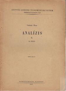 Császár Ákos - Analízis II. II. félév [antikvár]