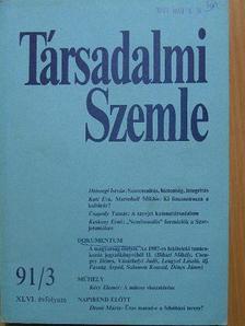 Csapody Tamás - Társadalmi Szemle 1991. március [antikvár]