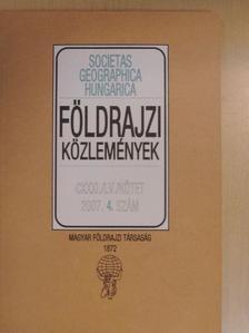 Barcza Zoltán - Földrajzi Közlemények 2007/4. [antikvár]