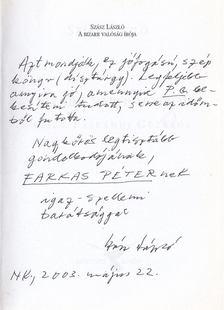 Szász László - A bizarr valóság írója (dedikált) [antikvár]