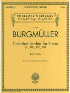 BURGMÜLLER - COLLECTED STUDIES FOR PIANO OP.100, 105, 109 (ED. AND FINGERED BY LOUIS OESTERLE)