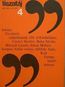 Alföldy Jenő - Tiszatáj 1983. április [antikvár]