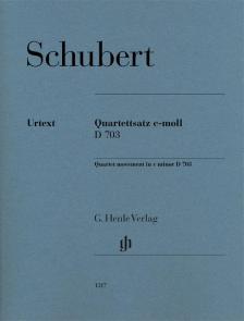 SCHUBERT - QUARTETTSATZ c-MOLL D 703 (EGON VOSS)
