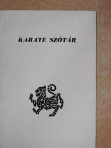Zsolt Péter - Karate szótár [antikvár]