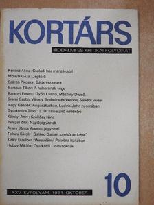 Barabás Tibor - Kortárs 1981. október [antikvár]