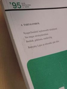 Berki Imre - Vasi Szemle 1995/4. [antikvár]