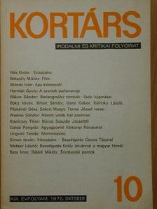 Baka István - Kortárs 1975. október [antikvár]