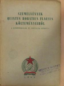 Antal Imre - Szemelvények Quintus Horatius Flaccus költeményeiből [antikvár]