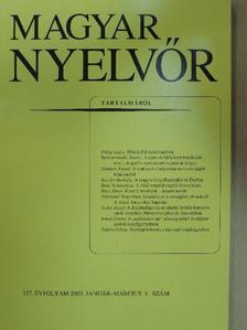 A. Molnár Ferenc - Magyar Nyelvőr 2003. január-március [antikvár]