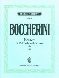 BOCCHERINI - KONZERT FÜR VIOLONCELLO UND ORCHESTER G 482, AUSG. FÜR VLC UND KLAVIER