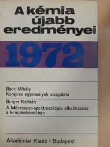 Beck Mihály - A kémia újabb eredményei 9. [antikvár]