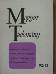 Barabás Zoltán - Magyar Tudomány 1992. december [antikvár]