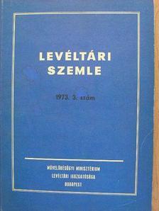 Balogh István - Levéltári Szemle 1973. szeptember-december [antikvár]