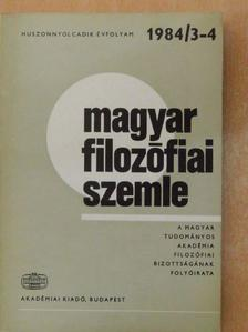 Gábor György - Magyar Filozófiai Szemle 1984/3-4. [antikvár]