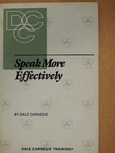 Dale Carnegie - Speak more effectively [antikvár]