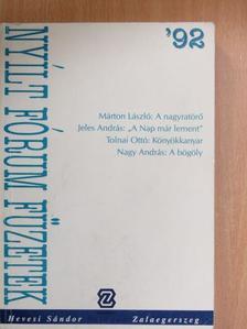 Jeles András - Nyílt Fórum Füzetek '92 [antikvár]