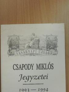 Csapody Miklós - Csapody Miklós Jegyzetei [antikvár]