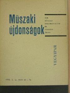 Baumann Miklós - Műszaki Újdonságok 1970/5. MUV 63-76 (nem teljes) [antikvár]