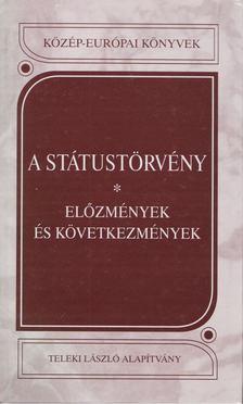 Kántor Zoltán - A státustörvény [antikvár]