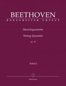 BEETHOVEN - STREICHQUARTETTE OP.18 URTEXT (JONATHAN DEL MAR), STIMMEN