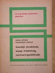Buda István - Személyi jövedelmek, anyagi érdekeltség, munkaerő-gazdálkodás [antikvár]