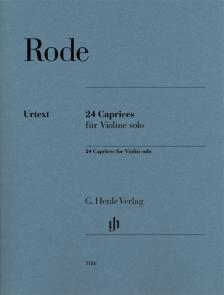 RODE - 24 CAPRICES FÜR VIOLINE SOLO (NORBERT GERTSCH) FINGERSATZ UND STRICHBEZEICHNUNG VOM KOMPONISTEN