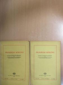 Batári Gyula - Filológiai Közlöny 1971. január-december [antikvár]