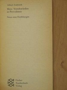 Alfred Andersch - Mein Verschwinden in Providence [antikvár]