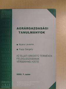 Nyárs Levente - Agrárgazdasági tanulmányok 2002/7. [antikvár]