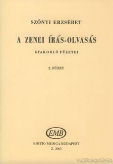 SZŐNYI ERZSÉBET - A zenei írás-olvasás gyakorló füzetei 2. füzet [antikvár]