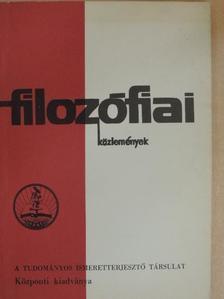 Bor István - Filozófiai közlemények 1973/2. [antikvár]