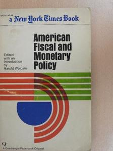 Alvin H. Hansen - American Fiscal and Monetary Policy [antikvár]