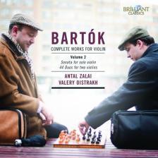 BARTÓK - COMPLETE WORKS FOR VIOLIN VOL.2 CD SZALAI ANTAL, VALERY OISTRAKH