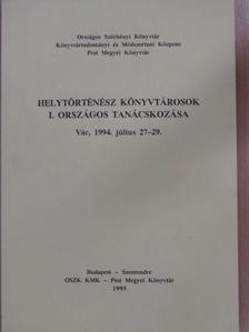 Bényei Miklós - Helytörténész könyvtárosok I. országos tanácskozása [antikvár]