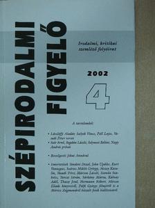 Ábrahám Dániel - Szépirodalmi figyelő 2002/4. [antikvár]