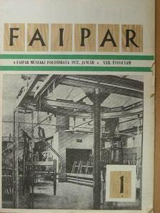 Arató István - Faipar 1972. január-december [antikvár]