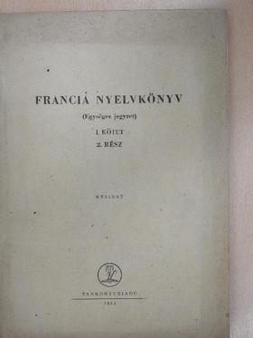 Dr. Barczán Endre - Francia nyelvkönyv I/2. [antikvár]