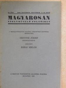 Bakó Elemér - Magyarosan 1935. november-december [antikvár]