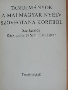 Bakos József - Tanulmányok a mai magyar nyelv szövegtana köréből [antikvár]