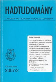 Nagy László - Hadtudomány XVII. évfolyam 2007/2. [antikvár]