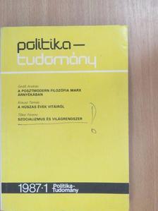 Findrik Mária - Politika-tudomány 1987/1. [antikvár]