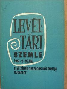 Bakács István - Levéltári Szemle 1961. április-június [antikvár]