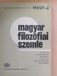 Ambrus János - Magyar Filozófiai Szemle 1985/1-2. [antikvár]