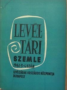 Balás Gábor - Levéltári Szemle 1961. július-december [antikvár]
