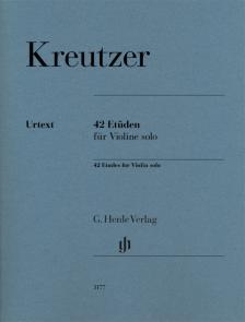 KREUTZER - 42 ETÜDEN FÜR VIOLINE SOLO. FINGERSATZ UND STRICHBEZEICHNUNG VOM KOMPONISTEN
