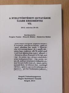 Bába Barbara - A nyelvtörténeti kutatások újabb eredményei VII. [antikvár]