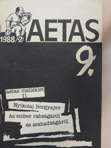 Barta Zsolt - Aetas 1988/2./Aetas melléklet II. [antikvár]