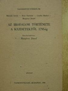 Bánszki István - Az irodalom története a kezdetektől 1795-ig [antikvár]