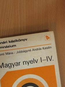 Honti Mária - Magyar nyelv I-IV. [antikvár]