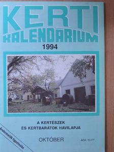 Dr. Szent-Miklóssy Ferenc - Kerti Kalendárium 1994. október [antikvár]